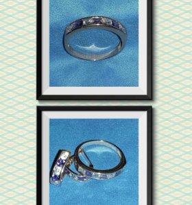 Серьги и кольцо (18), золото
