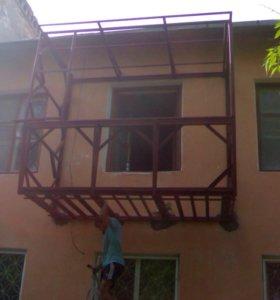 Сварочные работы на балконах