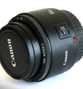 объектив Canon ef 50mm f/1.8 II (с блэндой)