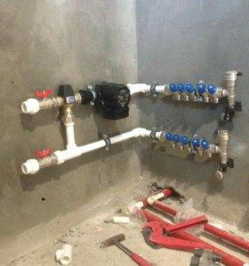 Водоснабжение,отопление канализация любой сложност
