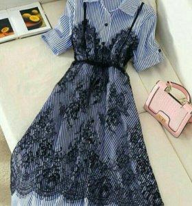 Платье рубашка👗