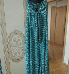 Платье в пол без бретелей