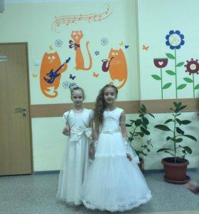 Платье для девочки размер 122-128