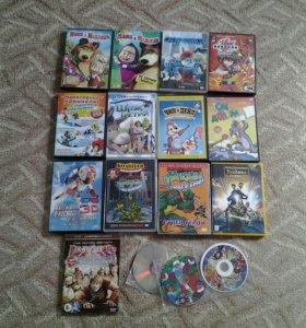 DVD /мультфильмы/ 16шт.