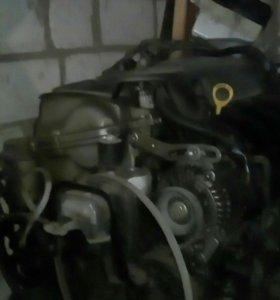 Двигатель2NZвсборе с муфтой и мозгами