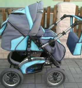 Детская коляска трансформер б/у в хорошем состояни