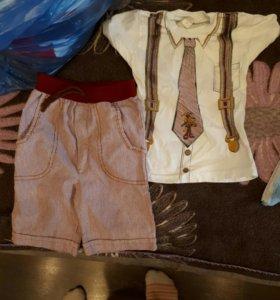 Футболка и шорты на мальчика комплект