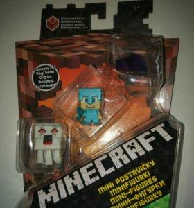 Игровой Набор Minecraft из 3х фигурок (Оригинал)