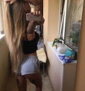 Волосы на заколках (мелирование)