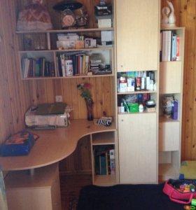 Письменный уголок стол школьника со шкафами