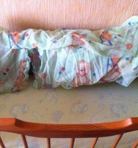 Продам кроватку + матрац + балдахин(бортики в пд)