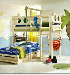 Детская кровать, мебель, игровой комплекс