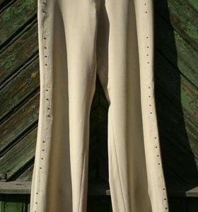 Брюки женские с вышивкой, размер 44