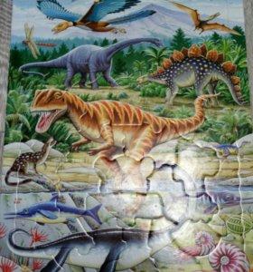 Пазл дет.динозавры