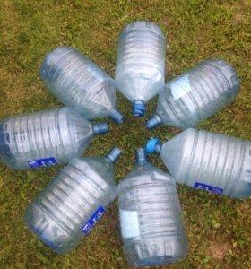 Чистые бутыли 19 литров