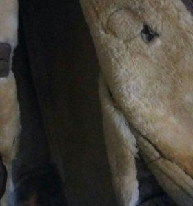 Дубленка натуральная из овчины длинная
