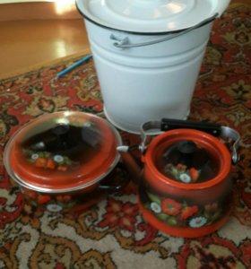 Комплект эмалированной посуды