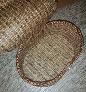 Шкатулка плетенная