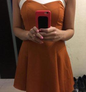 Летнее платье мини размер 44