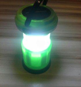 Фонарь светодиодный аккумуляторный кемпинговый
