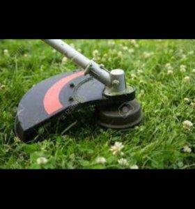 Покос травы. Уборка травы.