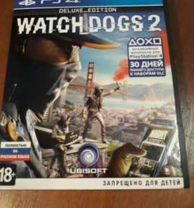 PS4 watch dogs 2 deluxe edition +metal gear solid5