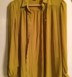 Рубашка цвета горчичного