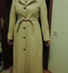 Новое кожаное плащ - пальто