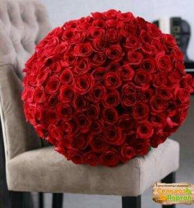 Роза фридом 101 штука 140 см