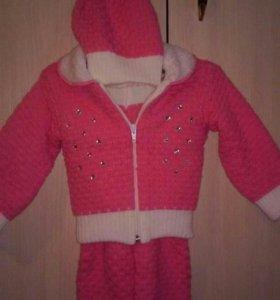 костюм для девочки тёплый