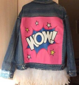 Куртка джинсовая с перями