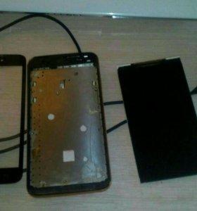 Сломаный телефон в нерабочем состоянии.