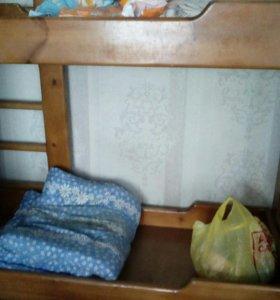 2х ярусная кровать из дерева
