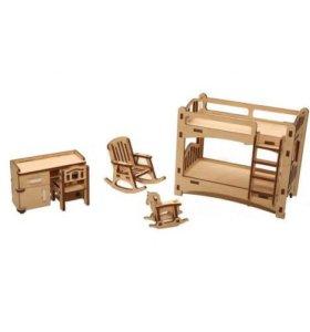 """Набор мебели для кукол """"Детская комната"""""""