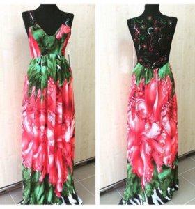 Новые платья в пол Турция
