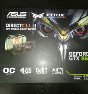 Видеокарта Asus GeForce GTX 960 strix 4GB DDR5