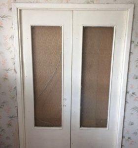 двери межкомнатные двойные б/у