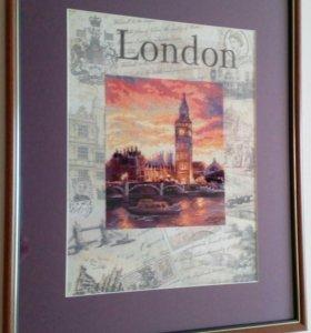 """Картина """"Лондон"""" вышитая крестом"""