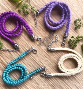 Чокеры плетёные ручной работы