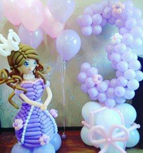 Принцесса София из воздушных шаров!
