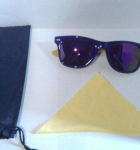 Солнцезащитные очки с бамбуковой дужкой