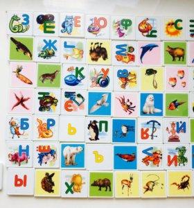 Буквы, животные
