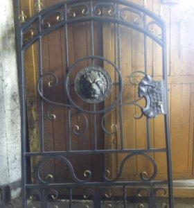 Кованные ворота и калитка