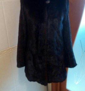 Шуба норковая с капюшоном, 42-44