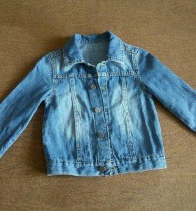 Джинсовый пиджак детский рост92см