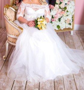 Свадебное платье 48-52 р