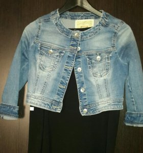 Джинсовая куртка (укороченная )