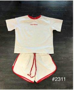 Новый костюм комплект шорты футболка спортивный