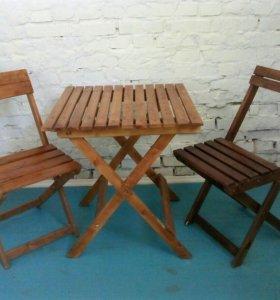 Садовые стулья и стол (комплект)