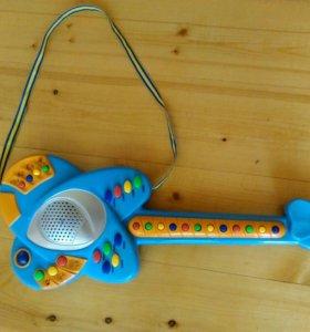 Детская электрогитара свет,звук,звуки животных